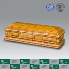 LUXES American Style Oversize Funeral Casket Wood&Metal Casket