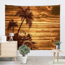 Vintage planches Tapisserie Tenture Murale Arbre De Noix De Coco Panneau En Bois Tapisserie Murale pour Salon chambre Dortoir Décor À La Maison