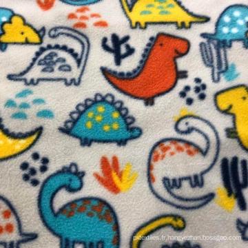 Tissu polaire micro bon marché 100% polyester imprimé