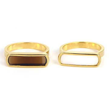 316l stainless steel rings for women charm 18k gold plated rings wedding jewelry