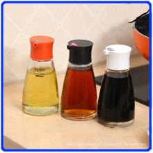 Glass Pepper Jar establece botella de vidrio de condimento para especias / salsa de soja / vinagre
