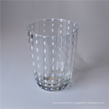 Transparent Drinking Glass with Color Dots