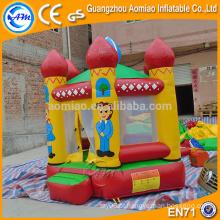 0.9mm PVC perfeito design inflável bouncy jumping castelo, família tema bounce casa para crianças