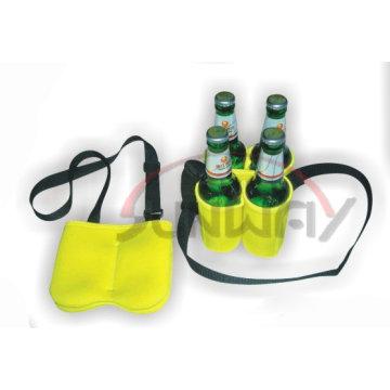 Insulated 4-Pack Neoprene Beer Bottle Cooler (BC0053)