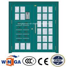 Big Double Size Electric Security Steel Glass Door (W-GD-25)