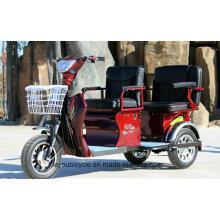 Электрический трехколесный велосипед для взрослых с пассажирским / велотуризмом