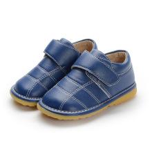 Baby-Marine-echtes Leder Innere Schuhe 1-2-3y