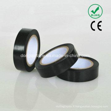 Ruban adhésif en caoutchouc adhésif en PVC avec adhésif solide pour protection électrique