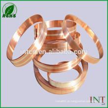 Tira de composto cobre prata contato elétrica