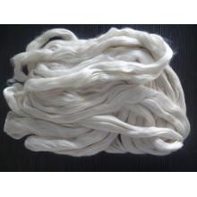 raw silk fiber tops