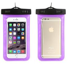 Nova moda pvc iphone impermeável caso com alça de pescoço (yky724-2)
