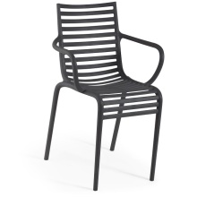 Classic Plastic Hollow out Leisure Chair with Arm