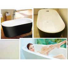Color Black Skirt White Tub Free Standing Bath