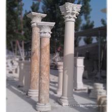 High quality house pillars designs roman marble pillar for sale
