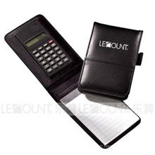 Carnet en cuir avec calculatrice, stylo à bille et note (LC806A-1)