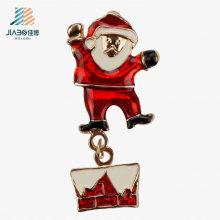 Chaveiro do metal da carcaça da liga de Papai Noel do presente da promoção para o Natal