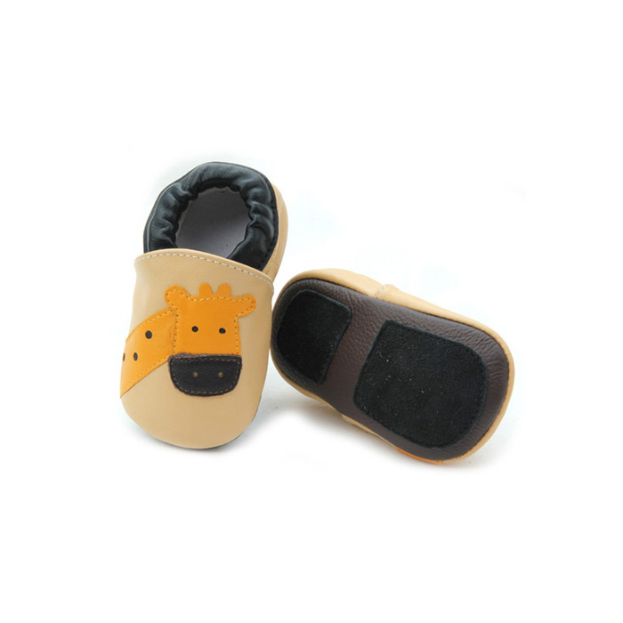 Soft Sole Leather Baby Slippers