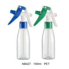 Flacon en plastique de 100 ml avec pulvérisateur à gâchette pour le nettoyage (NB422)