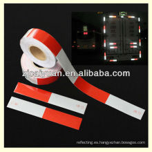 cinta reflectiva rojo-blanco para banda reflectante de motocicleta o remolque