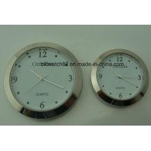 Custom 43mm 60mm Silver Metal Clock Insert for Promotion Gift