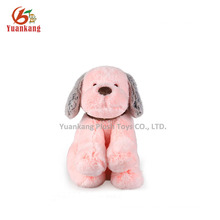 YK SA8000 factory Plush mini stuffed dog pink puppy with necklace