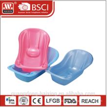 Vente chaude, baignoire bébé en plastique / plastique bébé baignoire autoportante