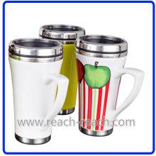 Doppelwand Keramik Kaffeebecher (R-3060)