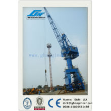 Shipyard jetty mobile portal crane