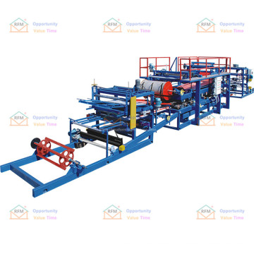 Heat-resistant and fire-resistant thermal insulation rock wool sandwich panel manufacturing machine