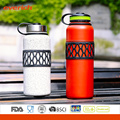 2016 Vaccum en acier inoxydable double mur populaire bouteille d'eau sport avec manchon
