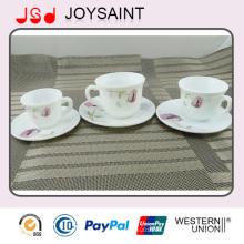 Tazas de café de China de gres y platillos