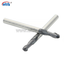 High Hardness Tungsten Carbide 2 Flute Tialn Coating Ball Nose End Mill
