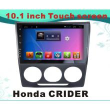 Système Android Car DVD Navigation GPS pour Honda Crider Ecran de capacité de 10,1 pouces avec TV / WiFi / Bluetooth / MP4