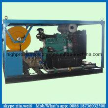 Sistema de limpeza de alta pressão da arruela grande da máquina da limpeza da tubulação do esgoto