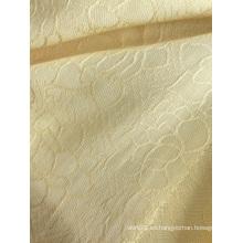 Tejido de vestidos de jacquard viscosa 100% de color puro elegante