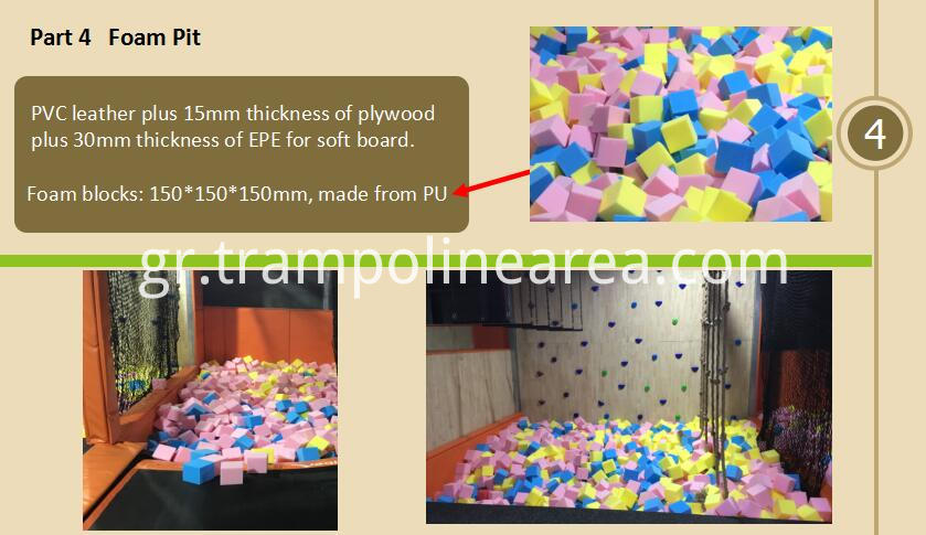 Foam pit of trampoline games