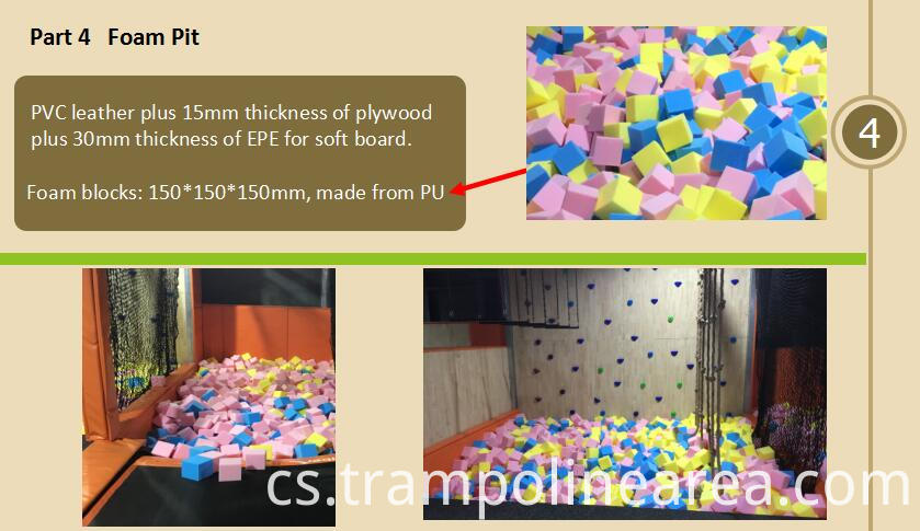 Foam pit of springs trampoline park