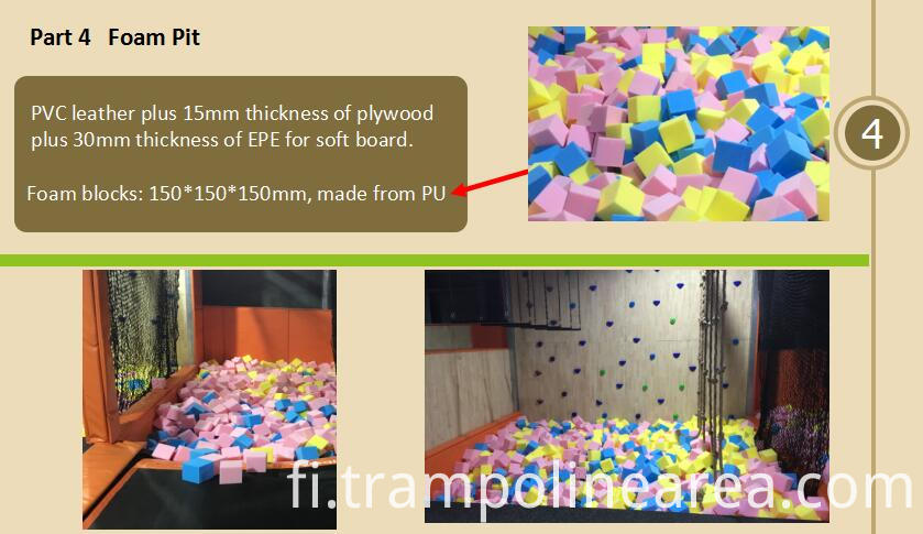 Foam pit of big air trampoline