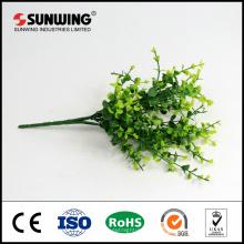tallo de espray de hiedra artificial verde resistente al fuego para la decoración al aire libre