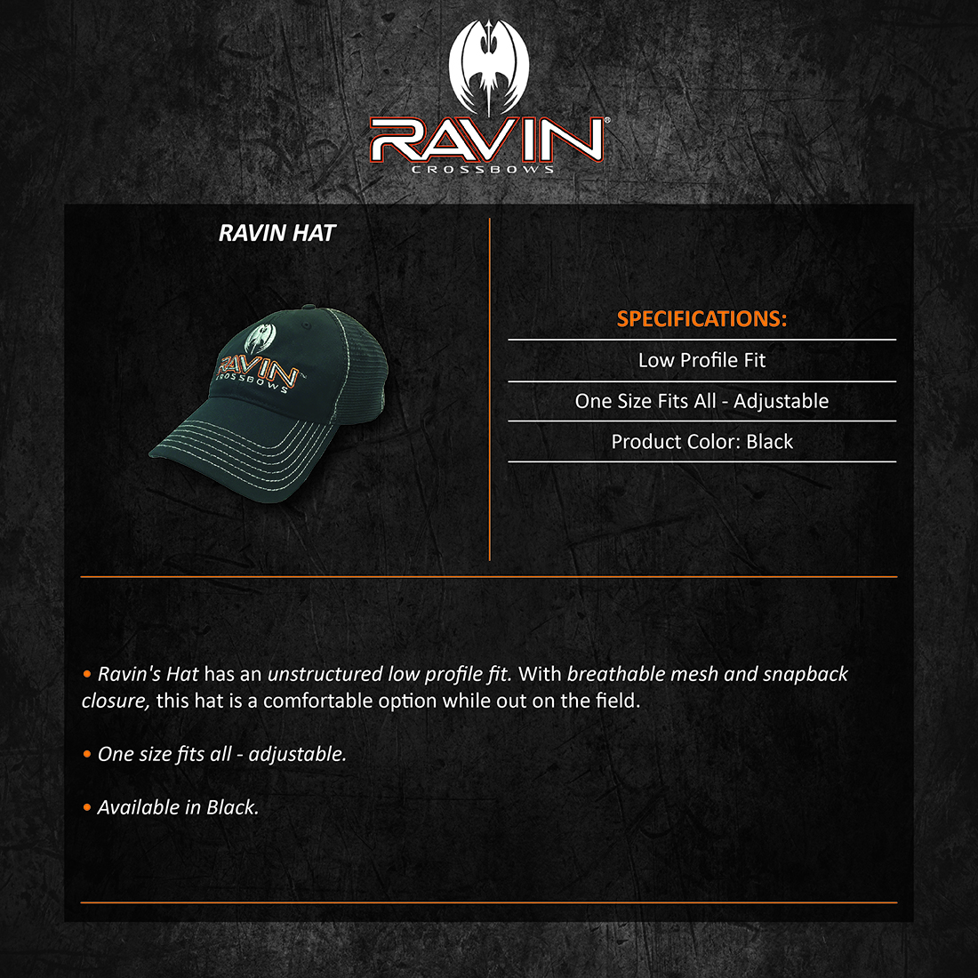 Ravin_Hat_Product_Description