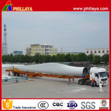 2 Axles Hydraulic Extendable Wind Blade Semi Trailer