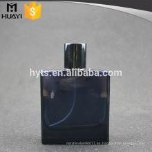 Vaso de botella cosmético del color azul 100ml para el perfume