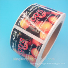 cheap custom printing bottle food label in China for sale