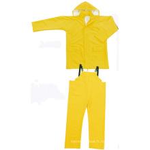 Jaune Couleur PVC / Polyester Imperméable Deux pièces Rainsuit