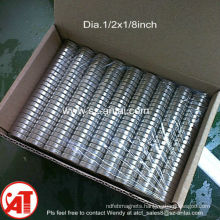 Dia.1/2x1/8 inch ndfeb disc magnet / the magnet factory of the world / ndfeb disk magnets
