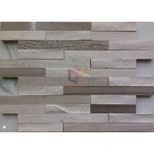 Natural Wooden Pattern Marble Stone Mosaic Tile (CFS1064)