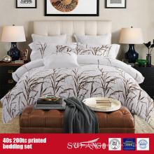 Juego de sábanas impresas 40S 200TC para uso en el hotel / en el hogar