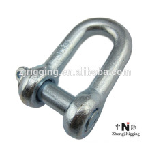 Rigging hardware carbon steel D shackle with high strength