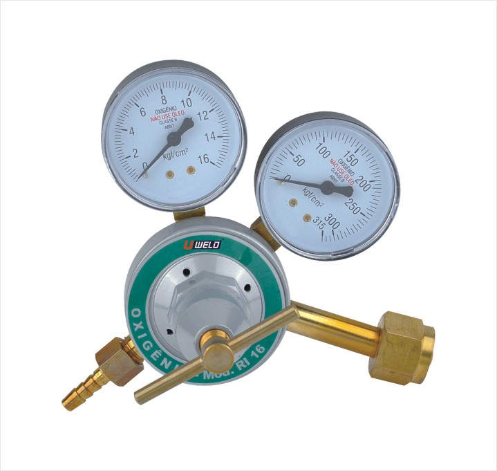 Brazil type regulator oxygen gas regulator