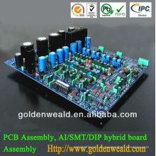 conjunto de placa de circuito impreso de aluminio UHF y VHF pcb de aluminio y montaje de pcb de placa